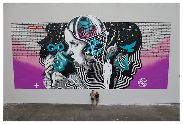 Dourone recently stopped by the city of Louvain La Neuve in Belgium where he was invited by the Kosmopolite Art Tour 2015.