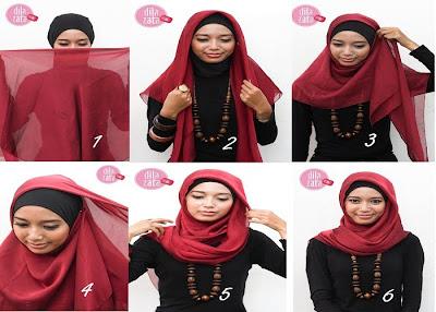 Step Cara Memakai Jilbab