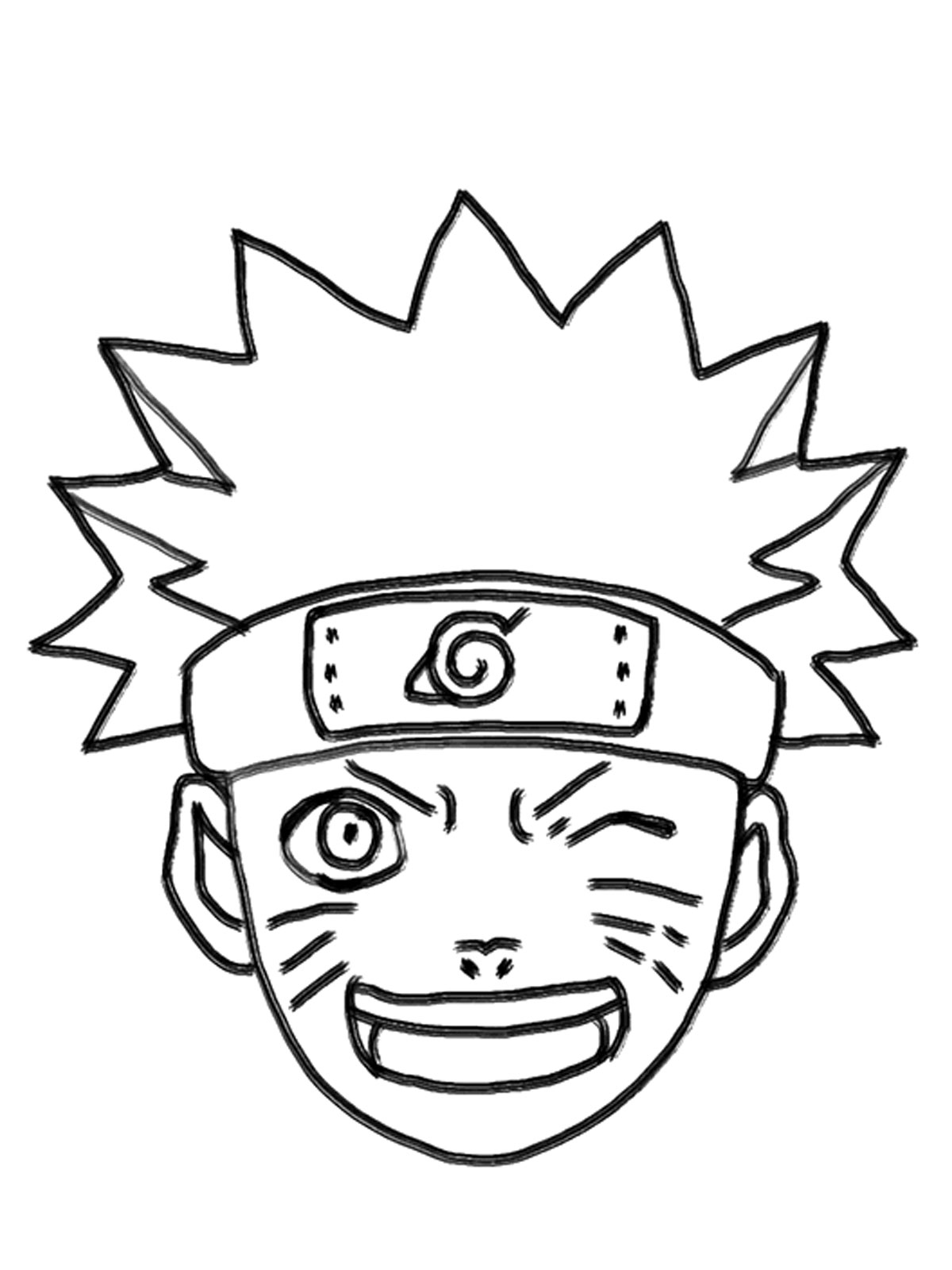 Naruto Coloring Pages Printable on sasuke cards