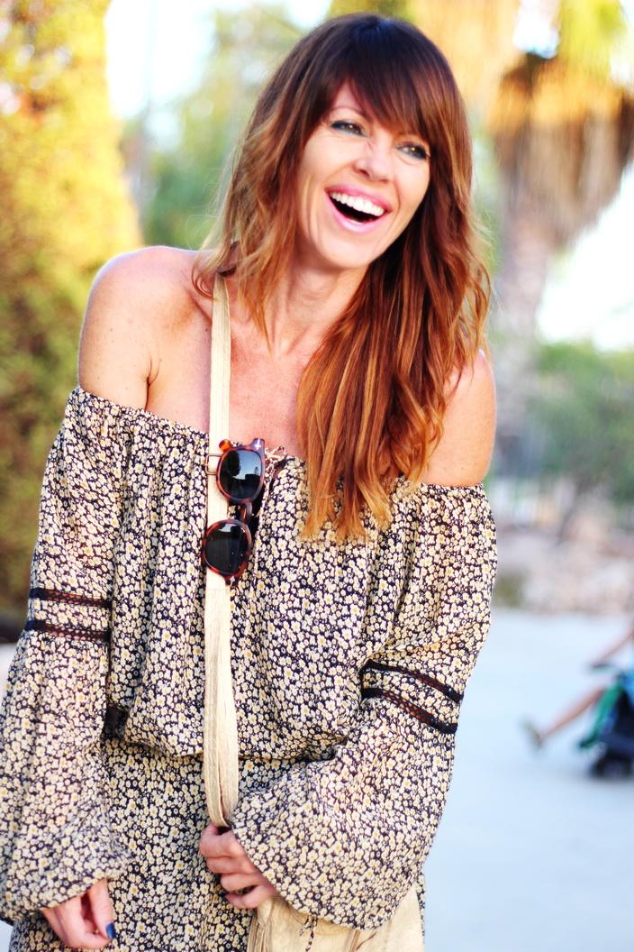 Boho dress - flowers - otoño 2015 - streetstyle - fashion blogger - blogger alicante