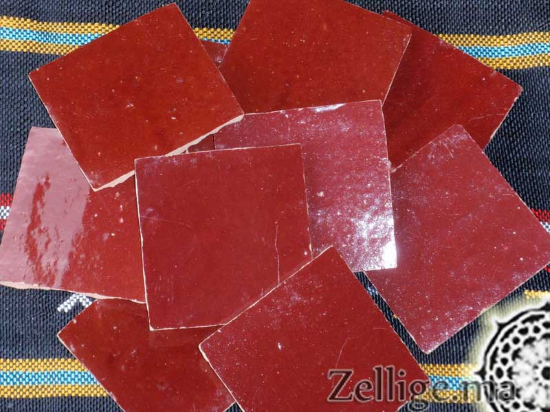 prix 50 euro carreaux zellige couleur rouge grenat ces carreaux de mosaque taill la main par les artisans du fes qui sont spcialiste dans la - Zellige Marocain Salle De Bain