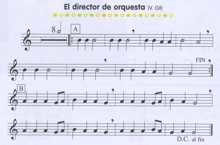 el director de musica: