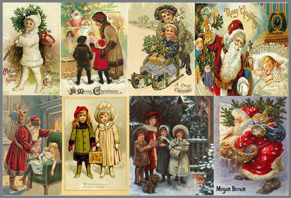 Винтажные открытки рождественские 57