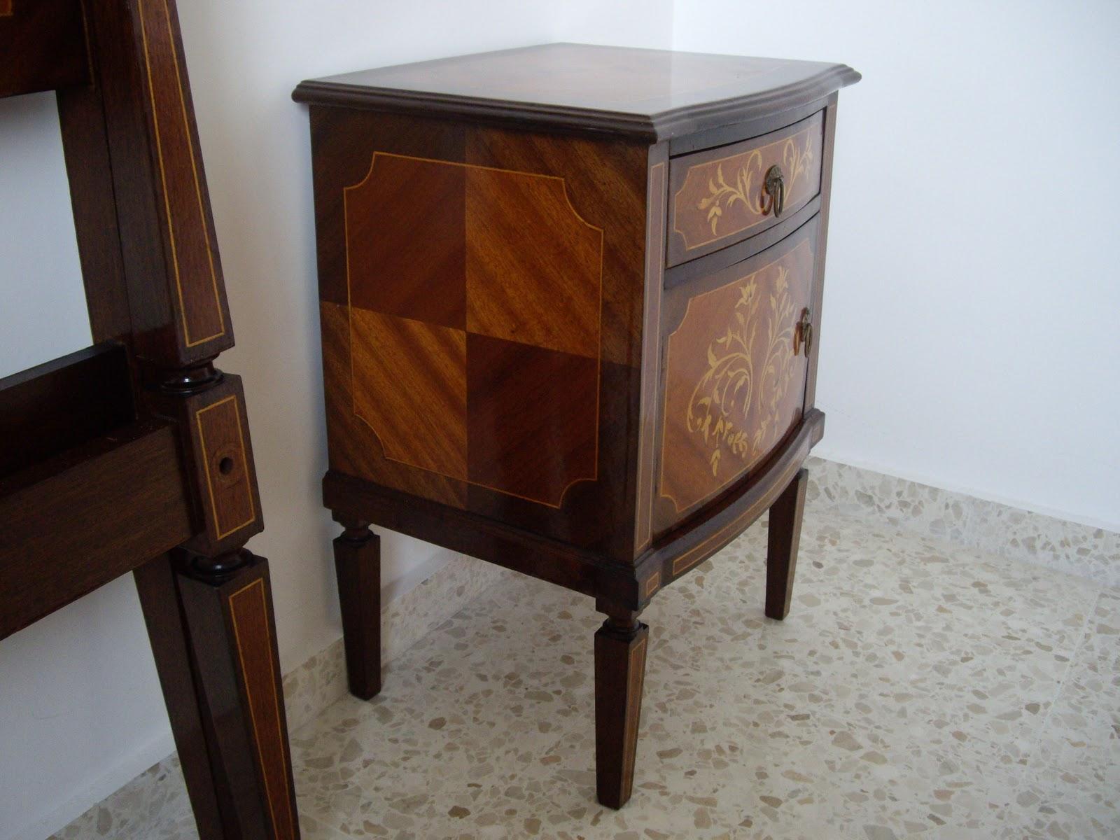 Antiguedades dormitorio de caoba y limoncillo - Muebles antiguos sevilla ...