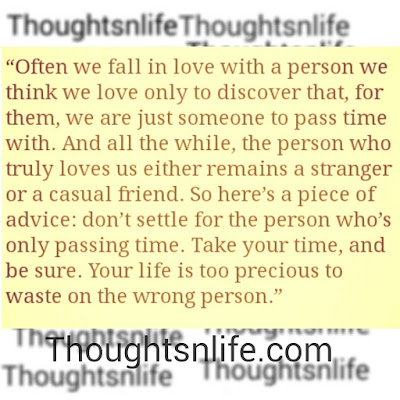 Often we fall in love with a person , love quotes, thoughtsnlife