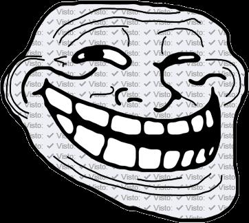Troll Face con la cara forrada en vistos de Facebook