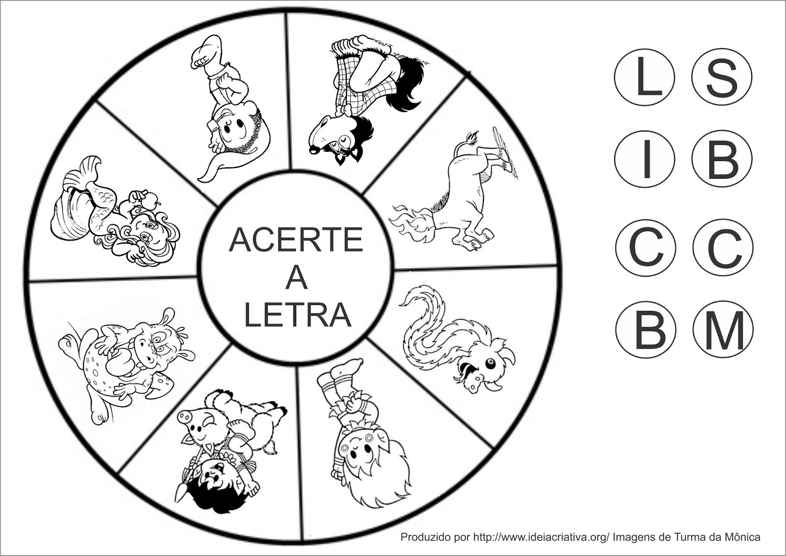Jogo Roleta Folclórica Atividade Folclore com Pregadores e Letra Inicial