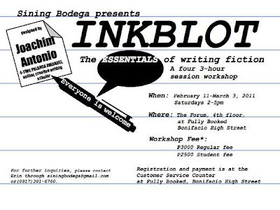 Sining Bodega presents Inkblot: The Essentials of Writing Fiction