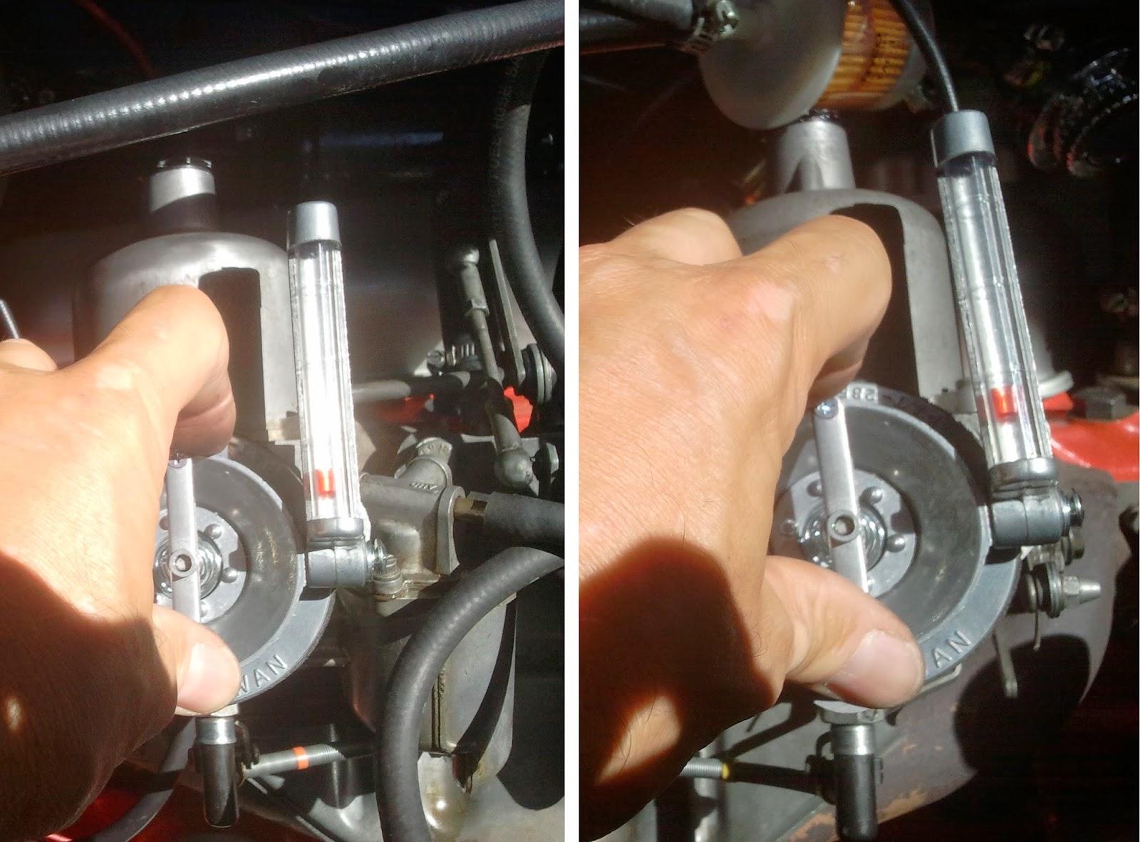 Synchronising Volvo 122S B20B SU carburettors with Uni-Syn