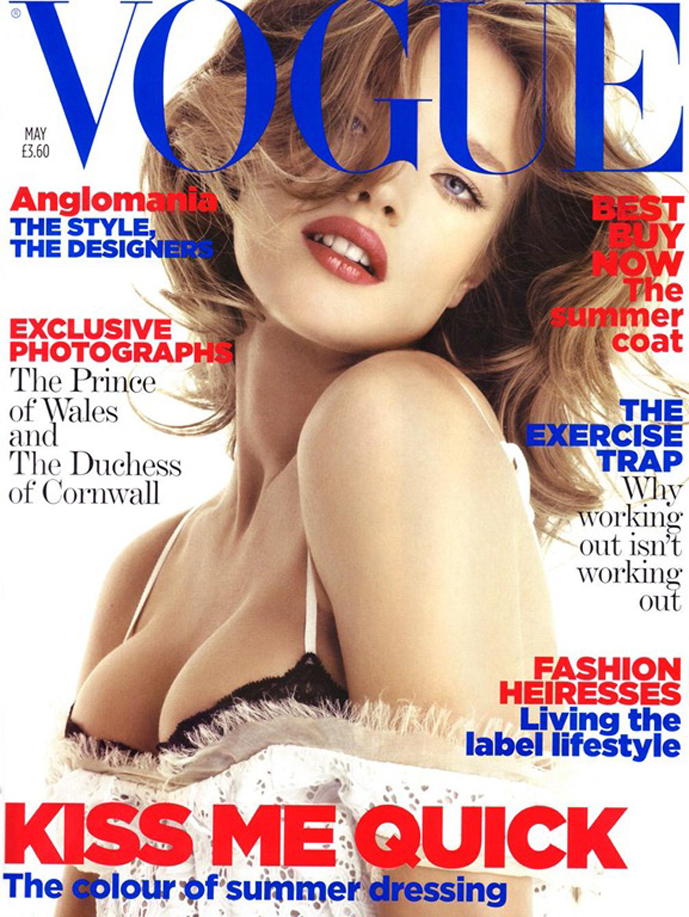 via fashioned by love | Natalia Vodianova by Patrick Demarchelier for Vogue UK May 2006