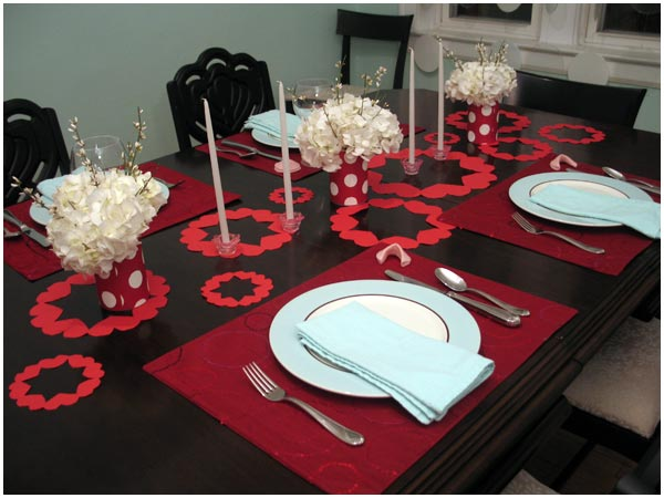 valentines day dinner table Decoration idea 2013