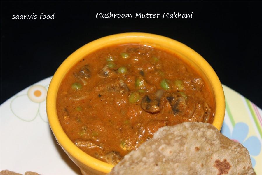 Mushroom Mutter Makhani