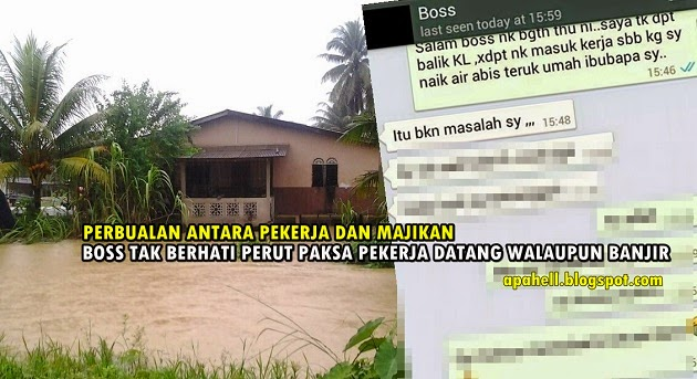 Majikan Paling Kejam Terhadap Pekerja Mangsa Banjir Pantai Timur (3 Gambar)
