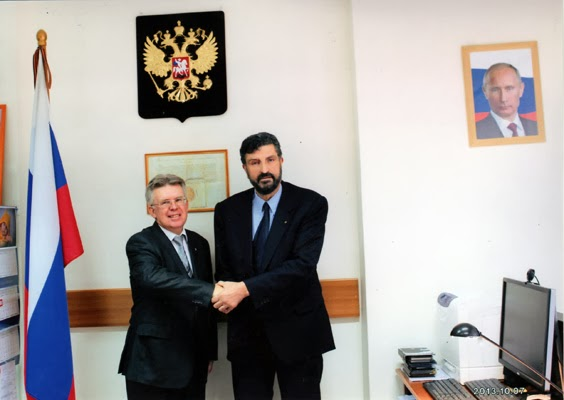 Με τον Πρόξενο της Ρωσίας στη Θεσσαλονίκη κ. Ποπώφ