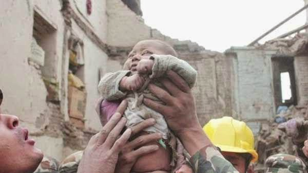Miracle 4 months old baby rescued from Nepal Earthquake after 22 hours
