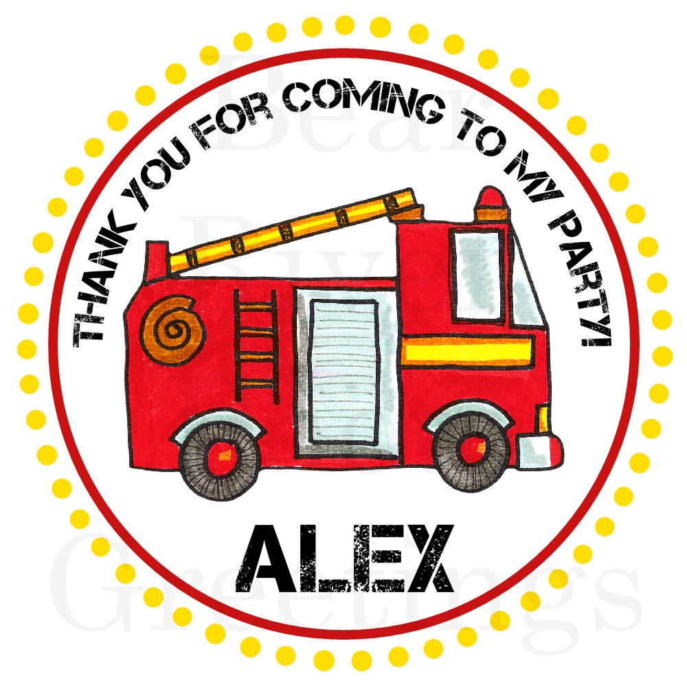Bear River Photo Greetings: Fire Truck Birthday Invitations and ...