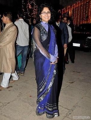 Kiran Rao looks chic and elegant in her purple-gold lehenga choli