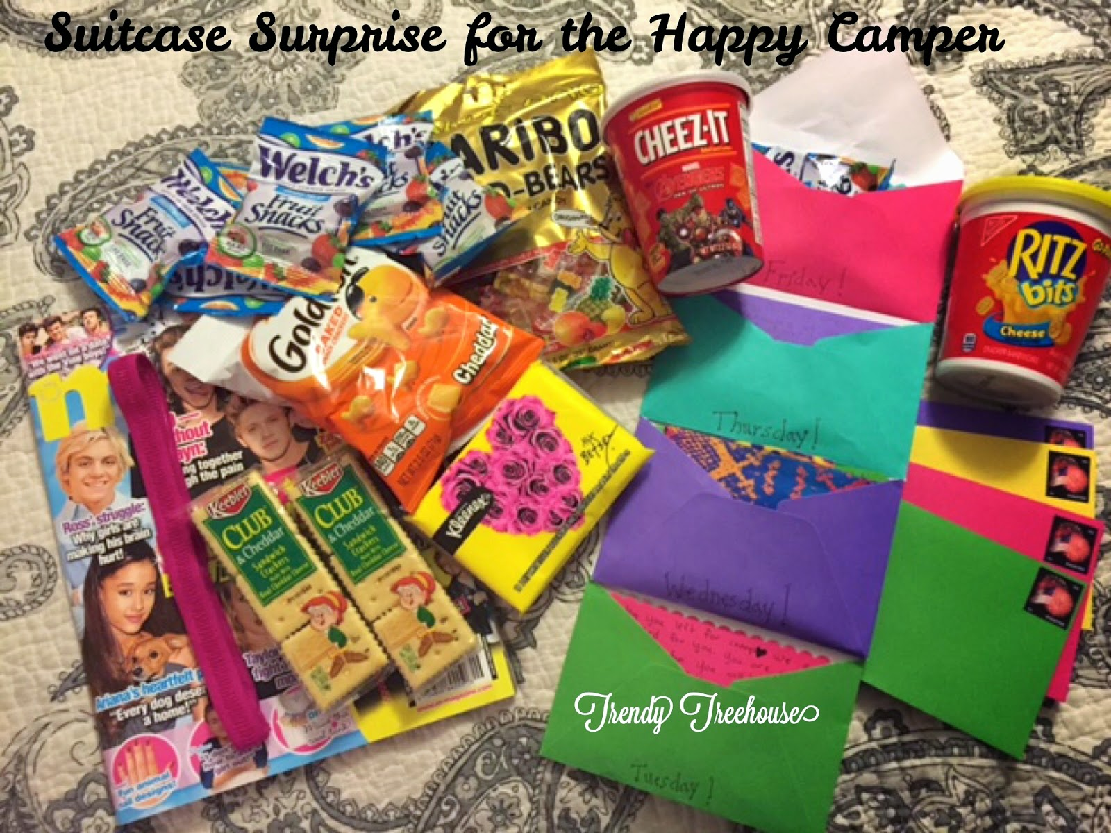 pine creek style: time for camp.care package fun