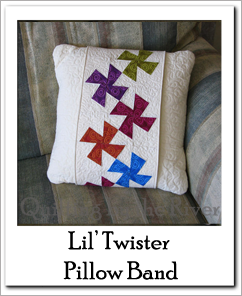 Lil Twister band pillow tutorial at Freemotion by the River