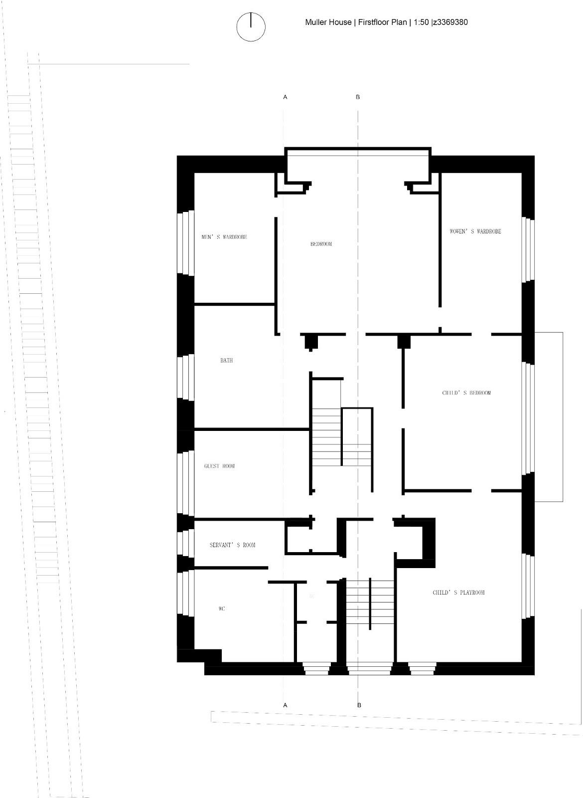 Villa Elevation Plan : Tianlu jiang arch part a villa muller plans sections