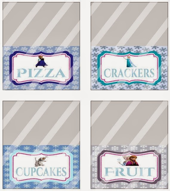 Lenceria De Baño De Sara Sing:Frozen Food Labels Party Printables Free
