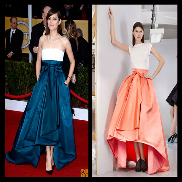 a filha do chefe Marion Cotillard Dior Haute Couture joia Chopard SAG Awards 2013