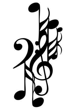 music symbols tattoos. wallpaper vector music symbols