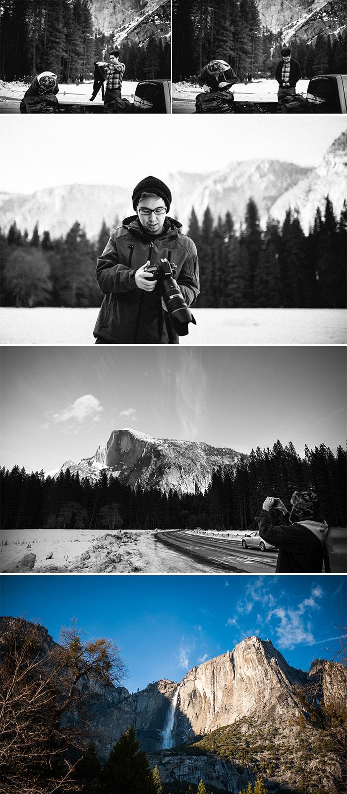 Yosemite half dome falls