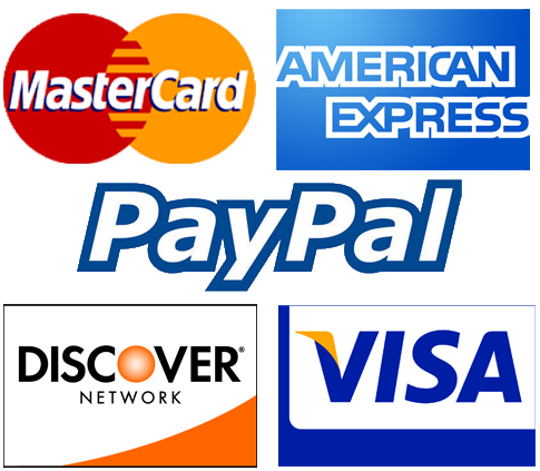 We Accept Credit Card & Paypals