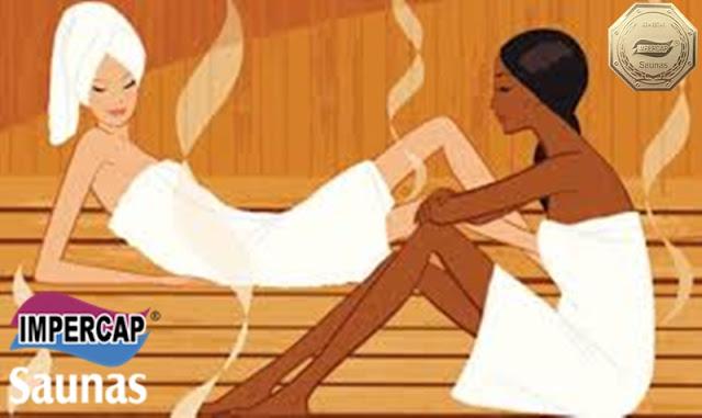 sauna e mulher