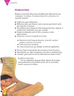 Apoyo Primaria Español 3er grado Bloque 4 lección 1 Práctica del lenguaje 10, Describir un proceso de fabricación o manufactura