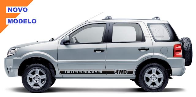 kit adesivo em vinil automotivo para EcoSport g1 Laura Adesivos e X11Auto