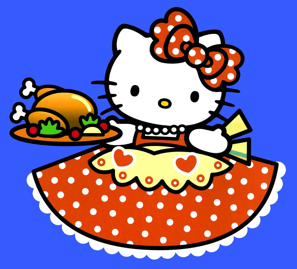 Hello Kitty Turkey Coloring Pages : Home garden lifestyle design shop november