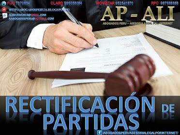 RECTIFICACIÓN DE PARTIDA