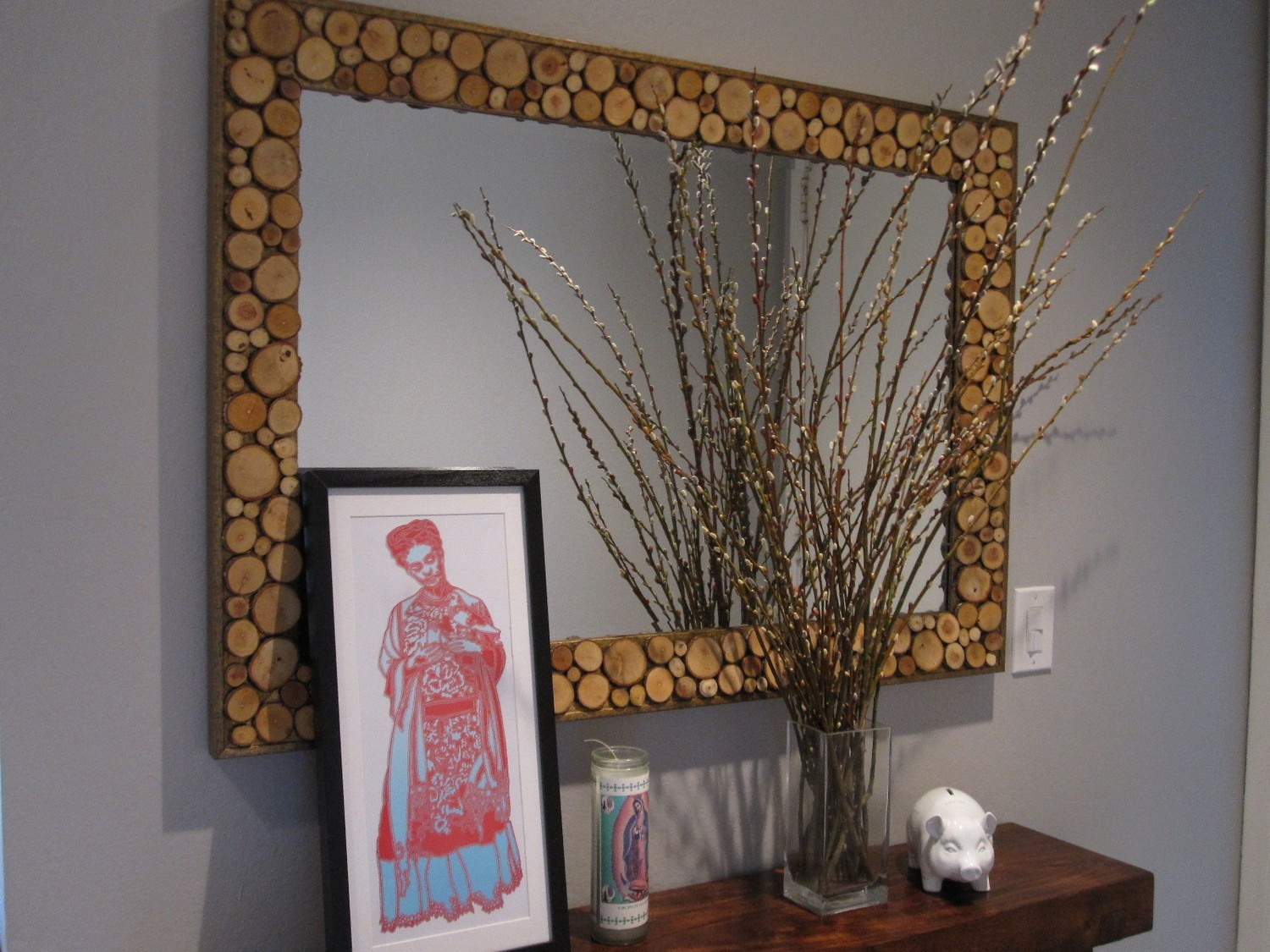 Mirror.. Mirror On The Wall Recycled Frame