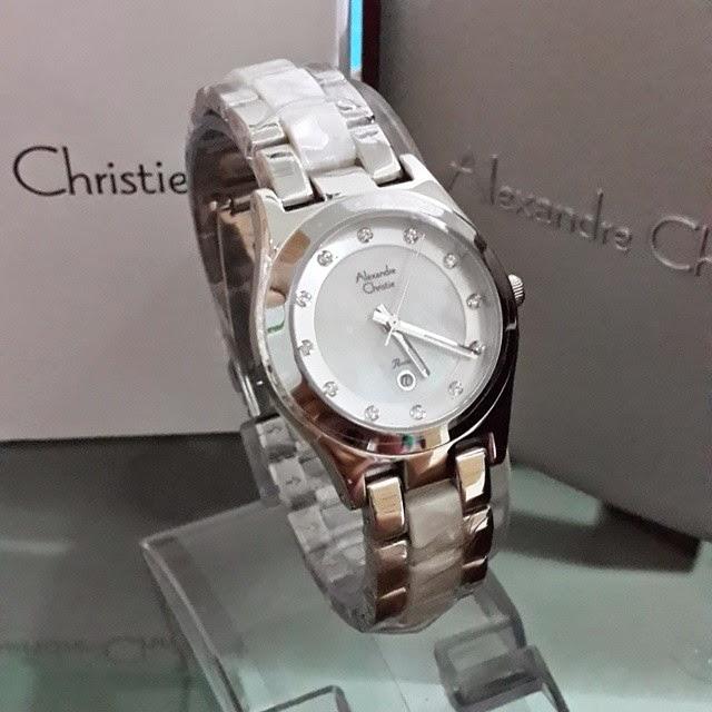 jam tangan alexandre christie 2477 putih silver