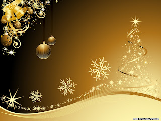 Free Download Golden Christmas Wallpaper