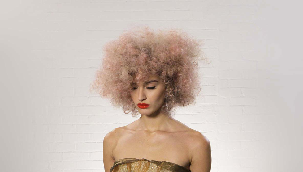 Wella, Trend Vision, pastel, hair, fishtail, neon, mermaid hair, pink afro