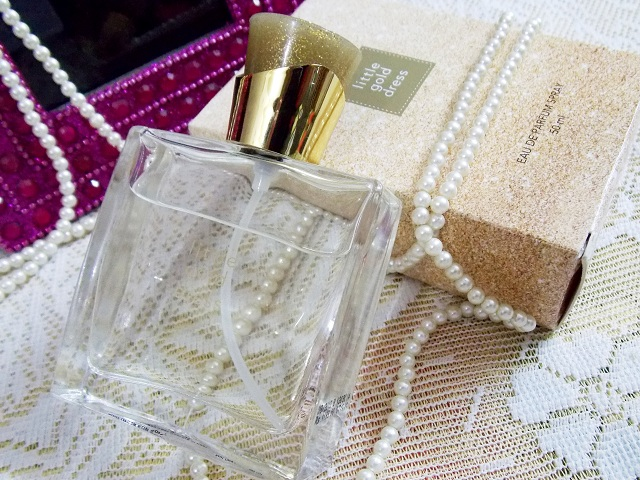 Avon Little Gold Dress Perfume