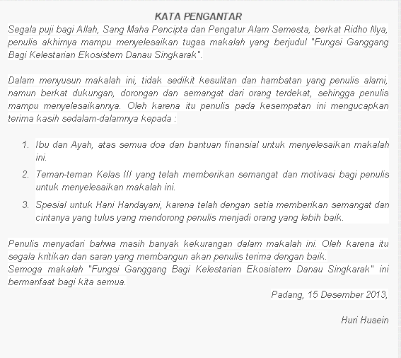 Contoh Kata Pengantar Makalah Terbaru Blog Contoh Surat ...