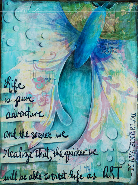 Life is pure adventure, and the sooner we realize that, the quicker we will be able to treat life as art. ~Maya Angelou