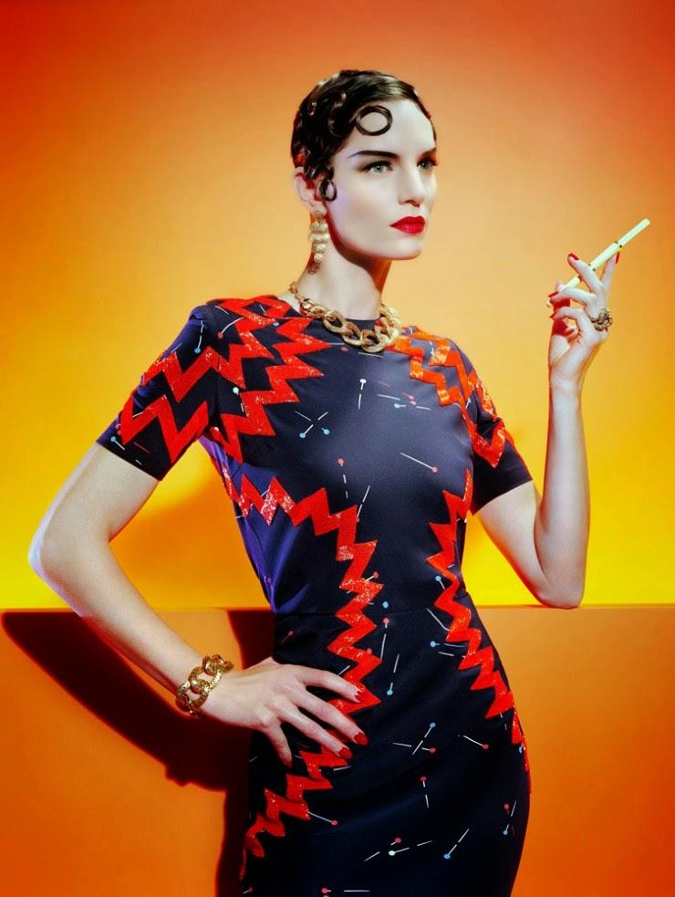 Fashion Model @ Iris Strubegger by Miles Aldridge for Vogue Italia, March 2015