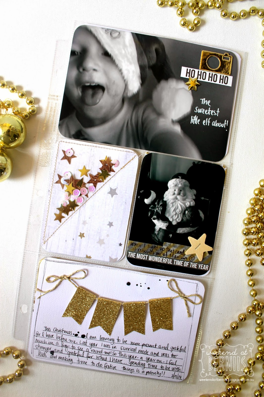 December Daily with Bernii Miller using the Stamp Spot Documented December Kit.