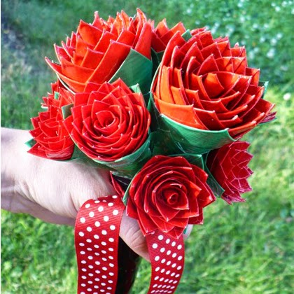 How to Make a Duct Tape Rose Bridal Bouquet