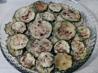 zucchine grigliate con tofu al forno
