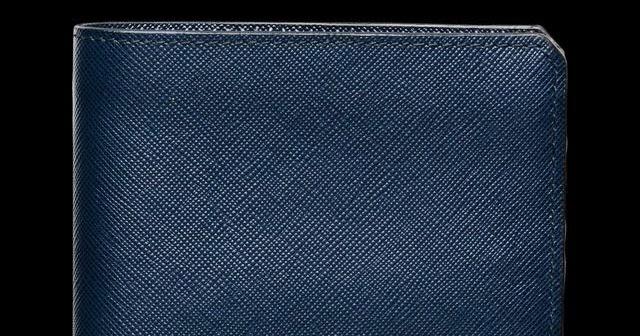 Stormtrooper: Baltic Blue Bi-Fold Wallet by Prada - prada wallet baltic blue