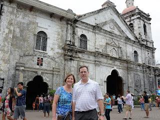 Ouside of the Basílica Menor del Santo Niño in Cebu