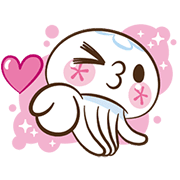 Clara the Jellyfish Animated Stickers