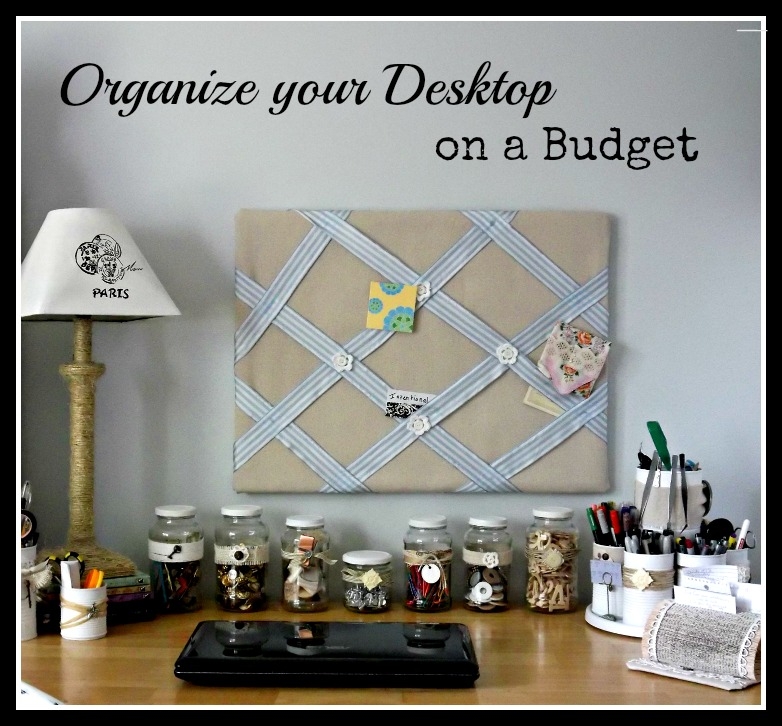 Vintage, Paint and more... organization made from recycled items