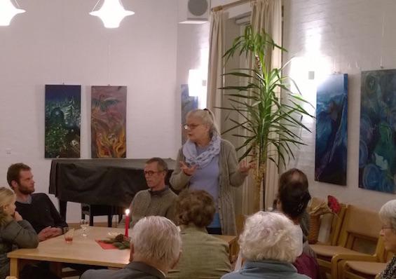 Inge Linder Herløw fortæller om sine malerier